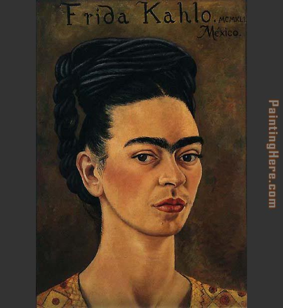 Frida Kahlo Self Portrait with Royal Gold Vest
